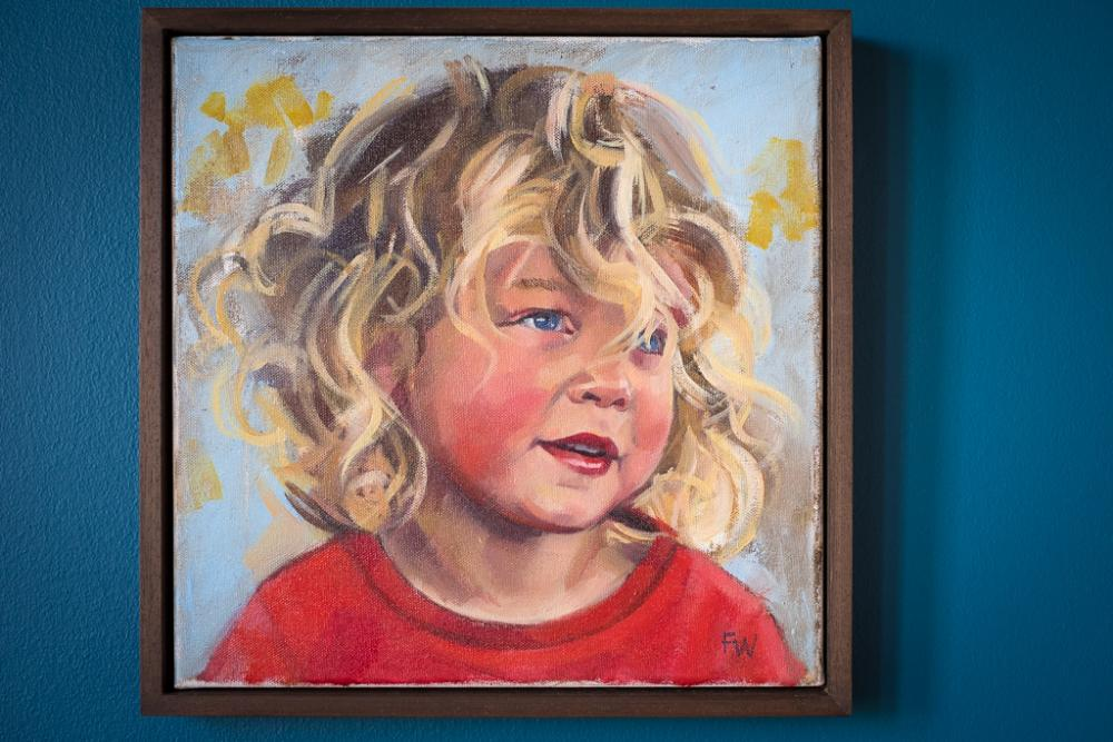 Child portrait painting boy 2