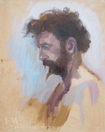Oil painted portrait