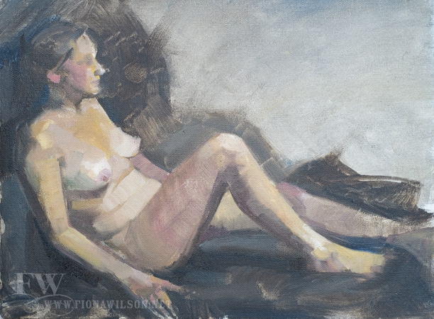 Oil Painting of a Nude by Fiona Wilson