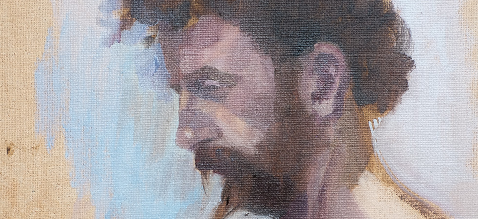 Oil painted portrait