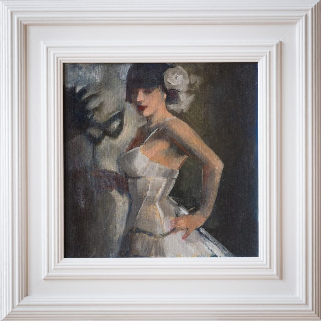 Ol Painting Lady in White Corset