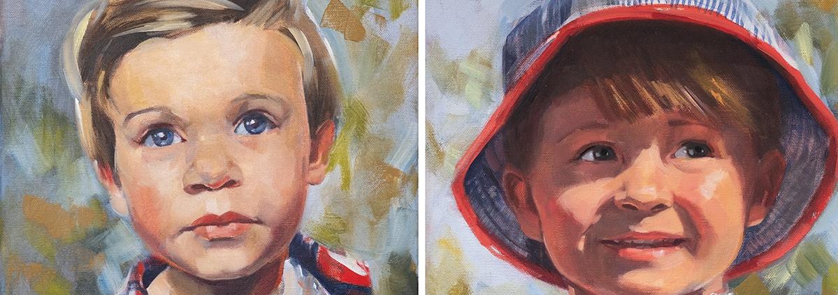 Children Portrait Commission Painting