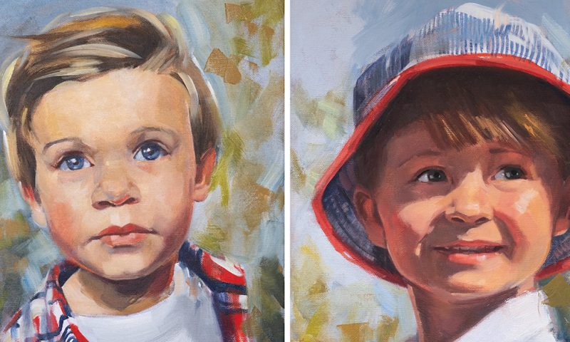 Children Portrait Commission Painting