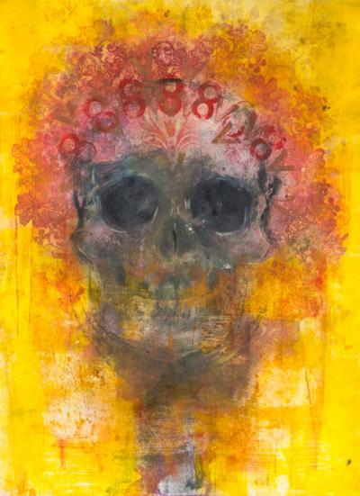 Amarillo Skull - Fiona Wilson Fine Art