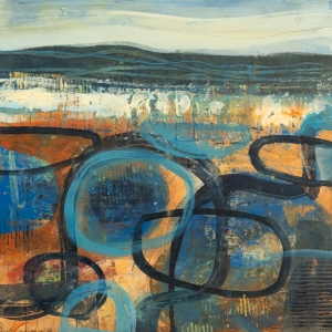 Beachcombing - Abstract Painting by Fiona Wilson Fine Art