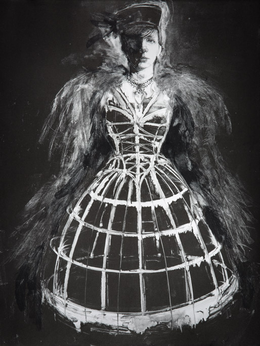 The Cage Dress - Fiona Wilson Fine Art Printmaking