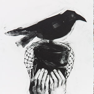 Birdwomen Fine Art Monotype Prints by Fiona Wilson