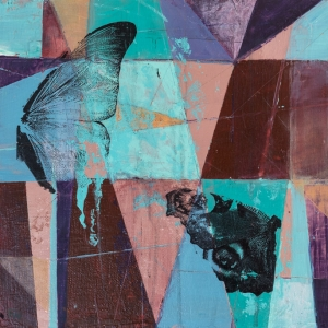 Broken Wings - Abstract Painting by Fiona Wilson Fine Art