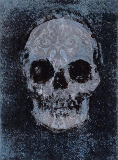 Dark Skull - Fiona Wilson Fine Art Printmaking