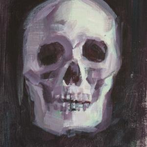 Indigo Skull Study