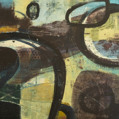 Mirro Signal Manoeuvre - Abstract Painting by Fiona Wilson Fine Art