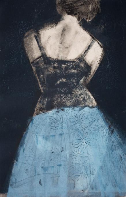 Blue Net Petticoat
