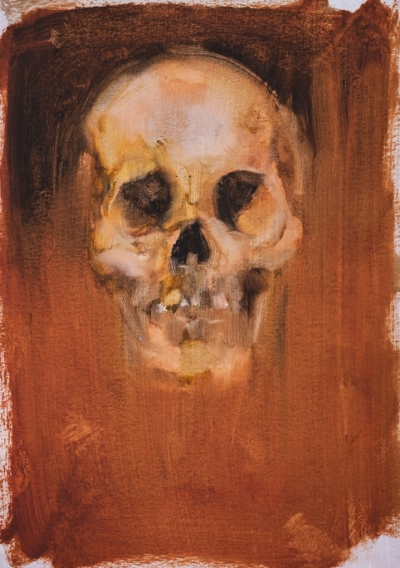 Ochre Skull Study