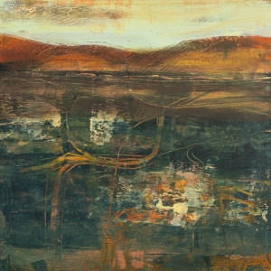 Over the Fields - Abstract Painting by Fiona Wilson Fine Art