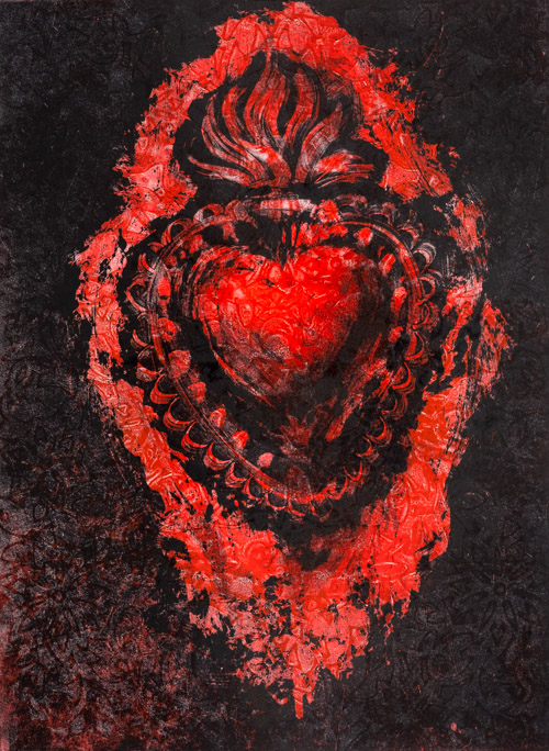 Sacred Heart - Fiona Wilson Fine Art Printmaking