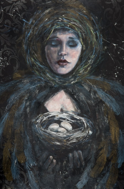 All Her Eggs - Fiona Wilson Fine Art Printmaking