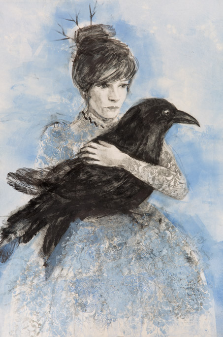The Lace Dress - Fiona Wilson Fine Art Printmaking