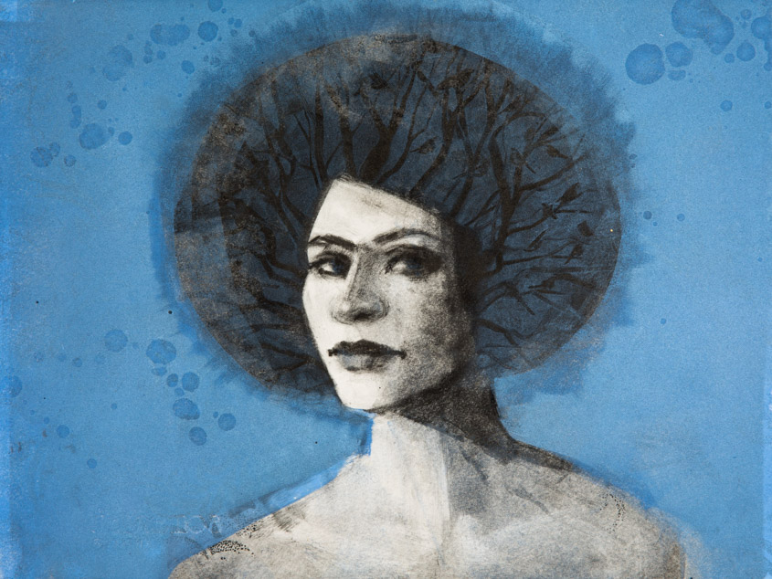 Blue Muse - Fiona Wilson Fine Art Printmaking