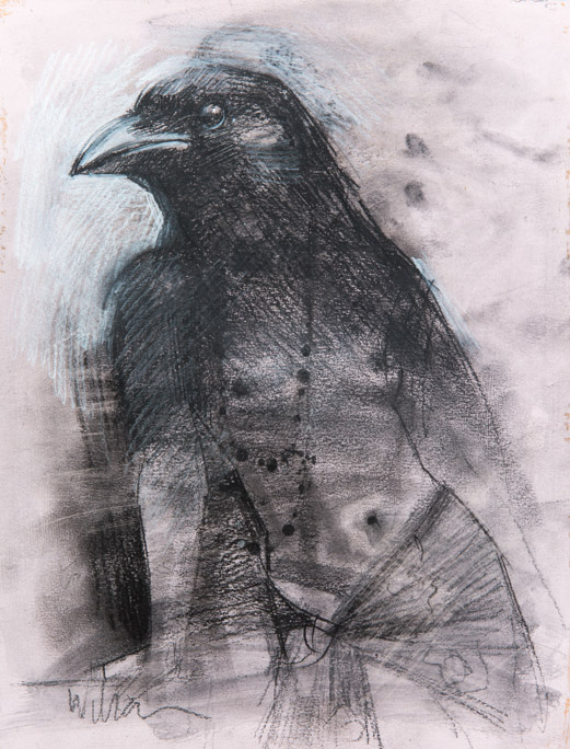 Crow Woman - Fiona Wilson Fine Art Printmaking