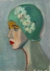 Emerald Swim Cap - Oi Painting by Fiona Wilson Fine Art