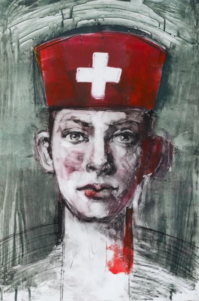 Fiona Wilson Art - Playing Nurses
