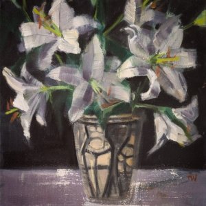 Fiona Wilson Art - Vase of Lillies
