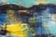 Lemon Skies Painting by Fiona Wilson (detail)