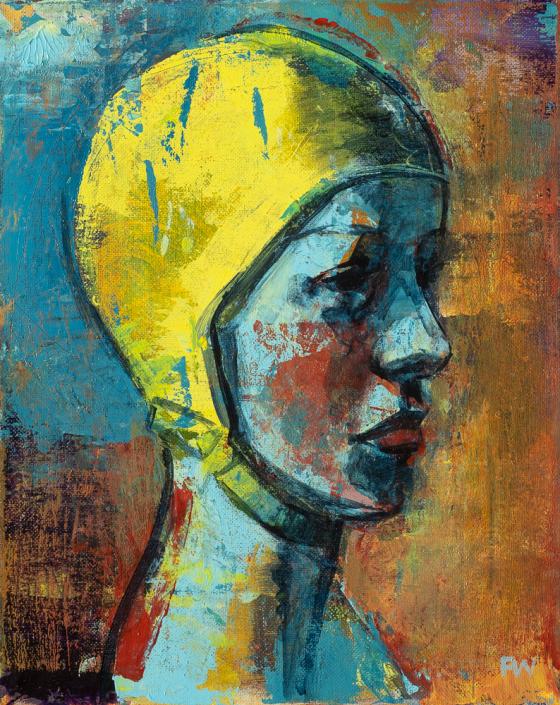 Blue Lady - Swimcap Series by Fiona Wilson