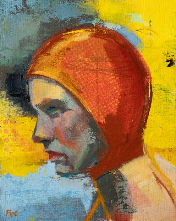 Determination - Swimcap Series by Fiona Wilson