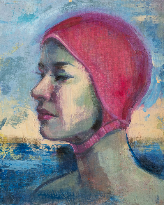 Elphaba Swims - Swimcap Series by Fiona Wilson