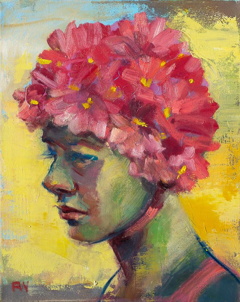 Floral Mermaid - Swimcap Series by Fiona Wilson