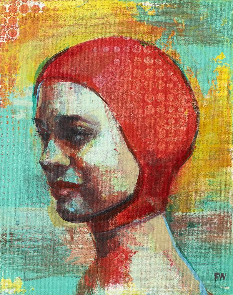 Scarlet Cap - Swimcap Series by Fiona Wilson