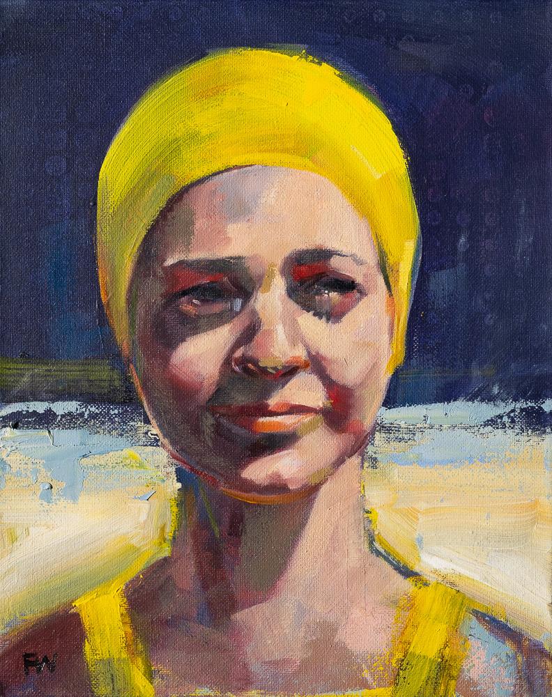 Storm Dodging - Swimcap Series by Fiona Wilson